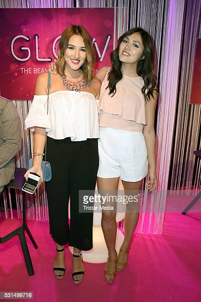 Katharina Damm and Anna Maria Damm attend the 'GLOW The Beauty Convention' on May 14 2016 in Stuttgart Germany