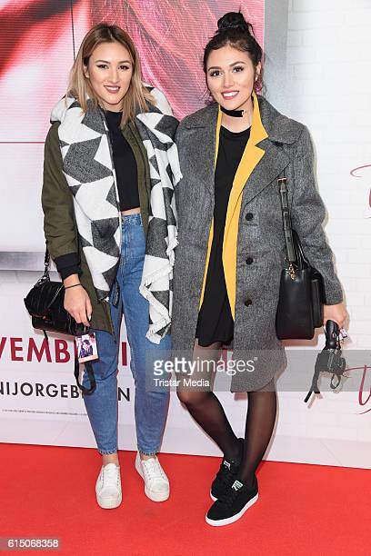 Katharina Damm and AnnaMaria Damm attend the Showcase Of Tini Violettas Zukunft on October 16 2016 in Berlin Germany