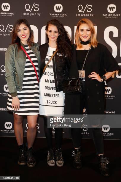 Katharina Damm Betty Taube and AnnaMaria Damm attend the 'Robin Schulz The Movie' world premiere at Cinemaxx on February 24 2017 in Hamburg Germany