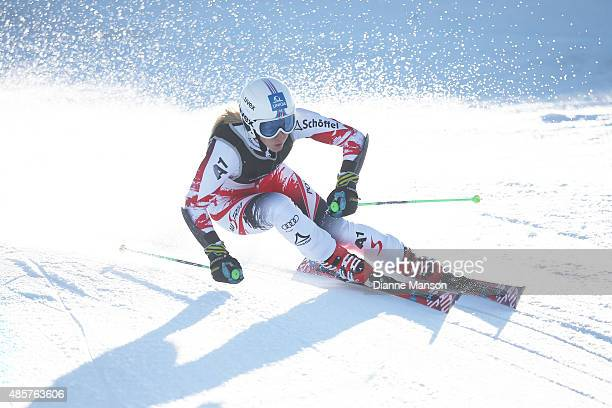 Katharina Gallhuber of Austria competes in the Alpine Giant Slalom FIS Australia New Zealand Cup during the Winter Games NZ at Coronet Peak on August...