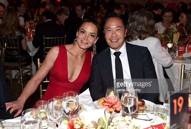 Katharina Harf cofounder of Delete Blood Cancer and designer Derek Lam attend the 9th Annual Delete Blood Cancer Gala on April 16 2015 in New York...