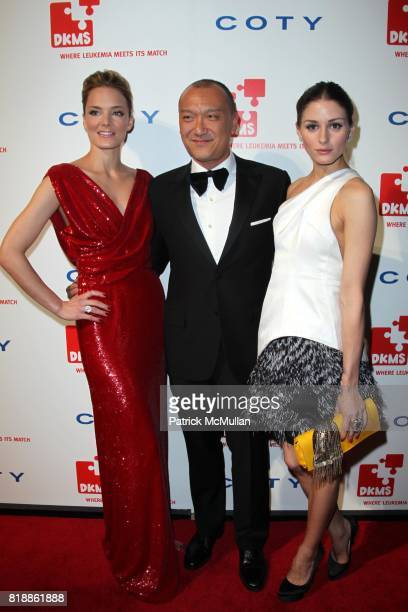 Katharina Harf Joe Zee and Olivia Palermo attend DKMS' 4th Annual Gala' LINKED AGAINST LEUKEMIA at Cipriani's 42nd St on April 29 2010 in New York...