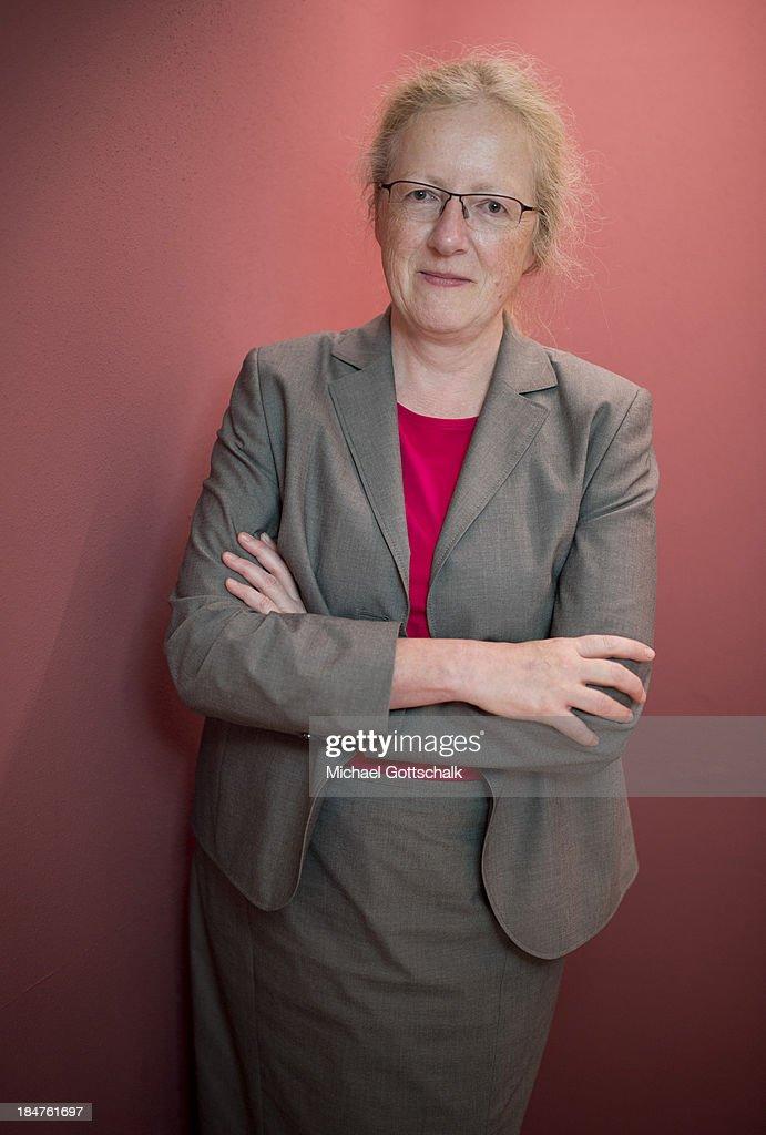Katharina Krause, Praesident of University of Marburg, poses during a Portrait Session on September 13, 2013 in Frankfurt, Germany.