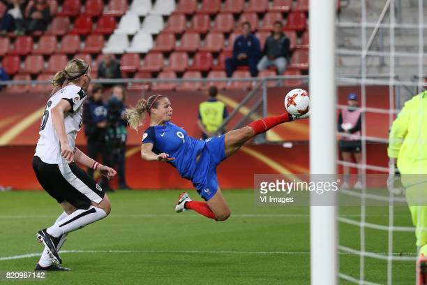 Katharina Schiechtl of Austria women Eugenie Le Sommer of France women during the UEFA WEURO 2017 Group C group stage match between France and...