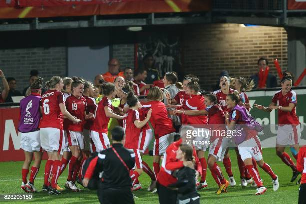 Katharina Schiechtl of Austria women Verena Aschauer of Austria women Jennifer Klein of Austria women Nadine Prohaska of Austria women during the...