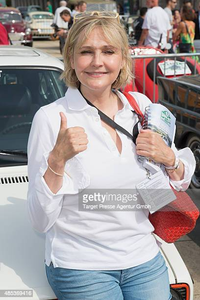 Katharina Schubert attends the HamburgBerlin Klassik Ralleye 2015 at Olympiastadion on August 27 2015 in Berlin Germany