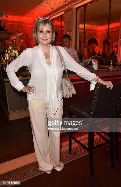 Katharina Schubert during the opening night of the Munich Film Festival 2016 at Hotel Bayerischer Hof on June 23 2016 in Munich Germany
