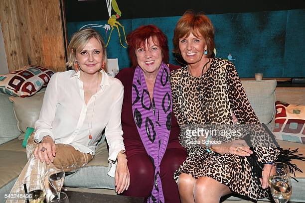 Katharina Schubert Regina Ziegler and Ulrike Kriener during the Peugeot BVC Casting Night during the Munich Film Festival 2016 at Kaeferschaenke on...