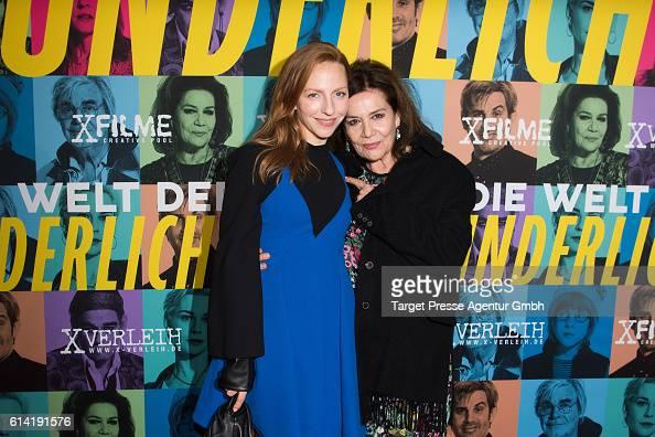Katharina Schuettler and Hannelore Elsner during the Berlin premiere of the film 'Die Welt der Wunderlichs' at Kant Kino on October 12 2016 in Berlin...