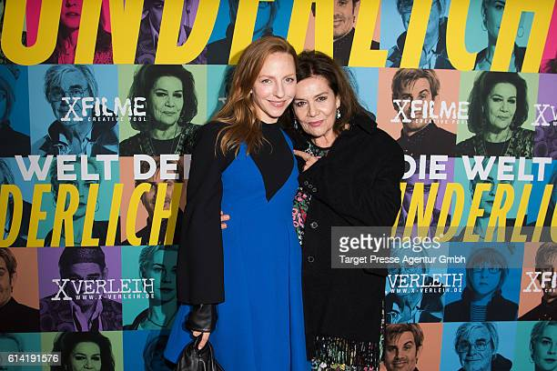 Katharina Schuettler and Hannelore Elsner during the Berlin premiere of the film 'Die Welt der Wunderlichs' at Kant Kino on October 12 2016 in Berlin...