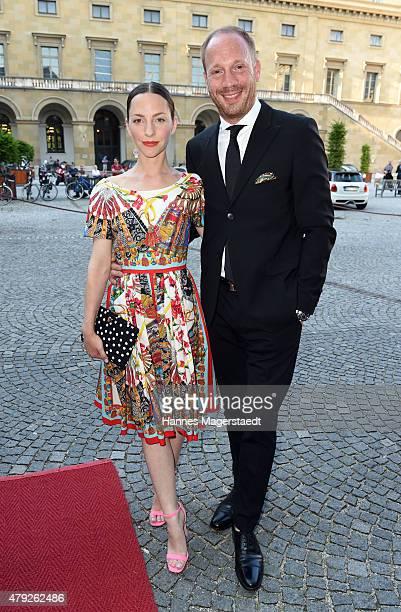 Katharina Schuettler and Johann von Buelow attend the Bernhard Wicki Award 2015 during the Munich Film Festival at Cuvilles Theatre on July 2 2015 in...