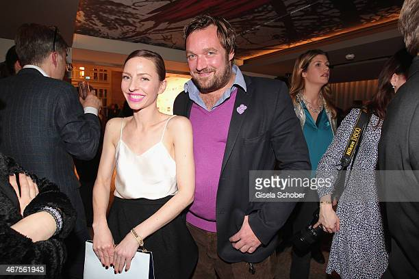 Katharina Schuettler and Till Franzen attend the Berlin Opening Night Of Gala Ufa Fiction during the 64th Berlinale International Film Festival at...
