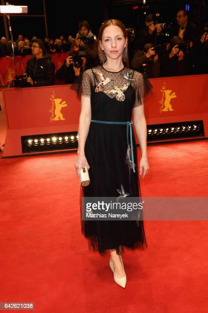 Katharina Schuettler arrives for the closing ceremony of the 67th Berlinale International Film Festival Berlin at Berlinale Palace on February 18...