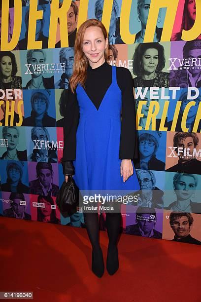 Katharina Schuettler attends the Berlin premiere of the film 'Die Welt der Wunderlichs' at Kant Kino on October 12 2016 in Berlin Germany