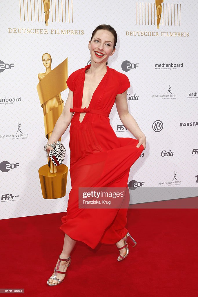 Katharina Schuettler attends the Lola German Film Award 2013 at Friedrichstadt-Palast on April 26, 2013 in Berlin, Germany.