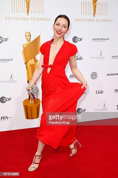 Katharina Schuettler attends the Lola German Film Award 2013 at FriedrichstadtPalast on April 26 2013 in Berlin Germany