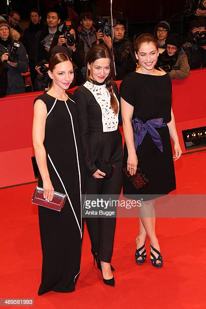 Katharina Schuettler Hannah Herzsprung Henriette Confurius arrive for the closing ceremony during 64th Berlinale International Film Festival at...