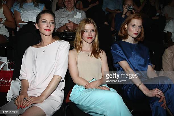 Katharina Schuettler Karoline Schuch and Jessica Joffe attend the Malaikaraiss Show during MercedesBenz Fashion Week Spring/Summer 2014 at...
