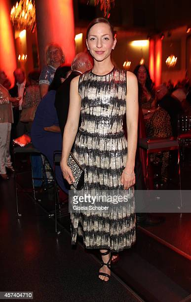Katharina Schuettler wearing jewellery of Wempe and a dress of Boss during the 25 year anniversary of Wempe at HVB Forum on October 17 2014 in Munich...