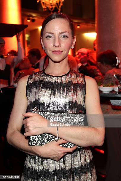 Katharina Schuettler wearing jewellery of Wempe during the 25 year anniversary of Wempe at HVB Forum on October 17 2014 in Munich Germany