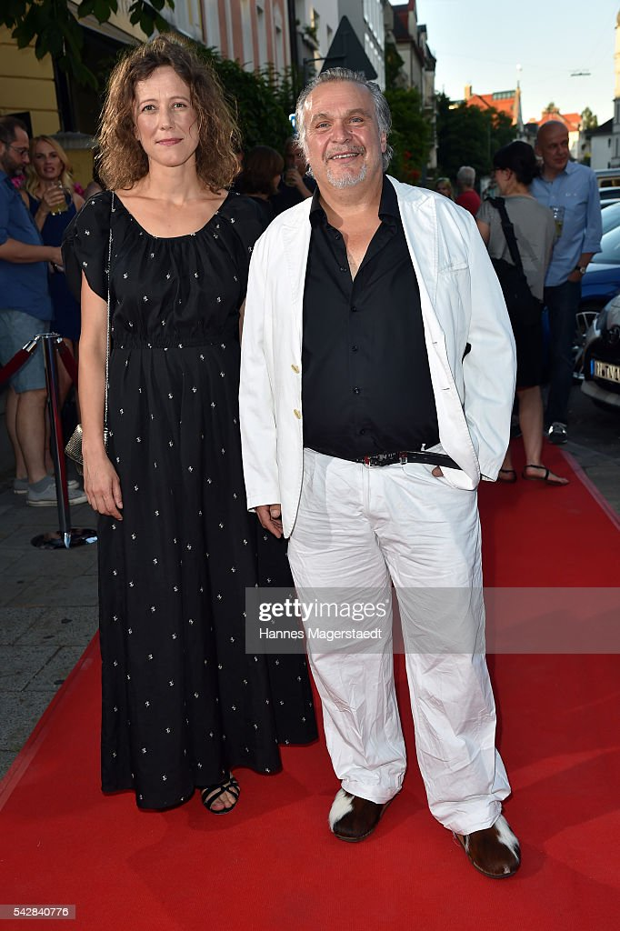 Katharina Spiering and Jockel Tschiersch during the ARD Degeto Get Together during the Munich Film Festival 2016 at Kaisergarten on June 24, 2016 in Munich, Germany.