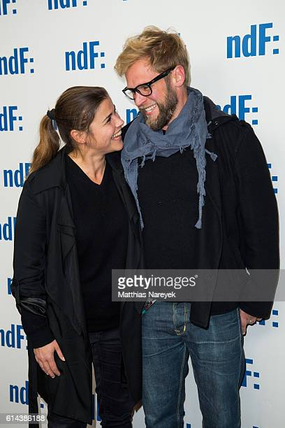Katharina Wackernagel and Henning Blum attend the 'Der IslandKrimi Der Tote im Westfjord' premiere at Astor Film Lounge on October 13 2016 in Berlin...