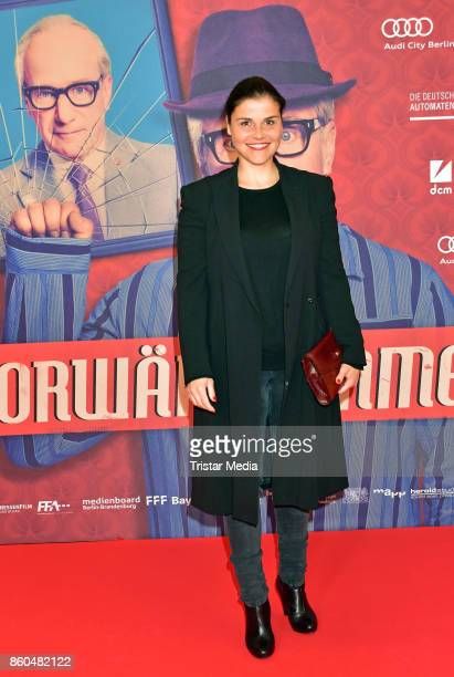 Katharina Wackernagel attends the 'Vorwaerts immer' premiere at Kino International on October 11 2017 in Berlin Germany