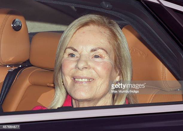 Katharine Duchess of Kent arrives at Buckingham Palace to attend a Christmas Lunch hosted by Queen Elizabeth II on December 18 2013 in London England