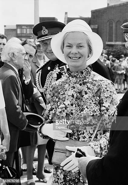 Katharine Duchess of Kent at an Army Catering Corps Church Parade in Aldershot UK 13th June 1971