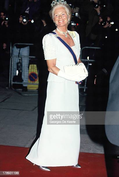 Katharine Duchess of Kent attends the State Banquet given by Former Polish President Lech Walesa in honor of the Queen on April 25 1991 in London...