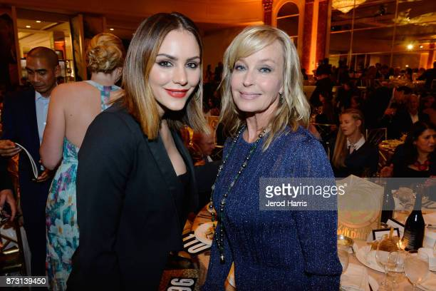 Katharine McPhee and Bo Derek arrives at 'Evening With WildAid' at the Beverly Wilshire Four Seasons Hotel on November 11 2017 in Beverly Hills...