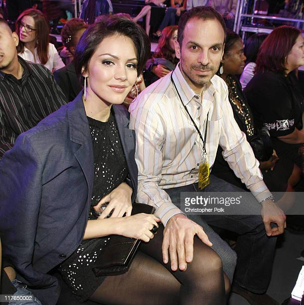 Katharine McPhee and Nick Cokas during VH1 Big in '06 Backstage and Audience at Sony Studios in Culver City California United States