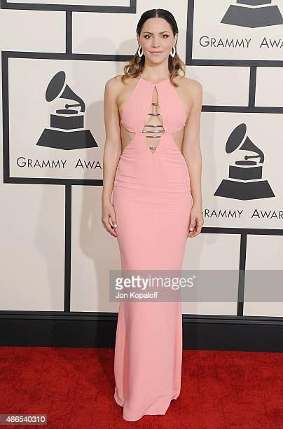 Katharine McPhee arrives at the 57th GRAMMY Awards at Staples Center on February 8 2015 in Los Angeles California