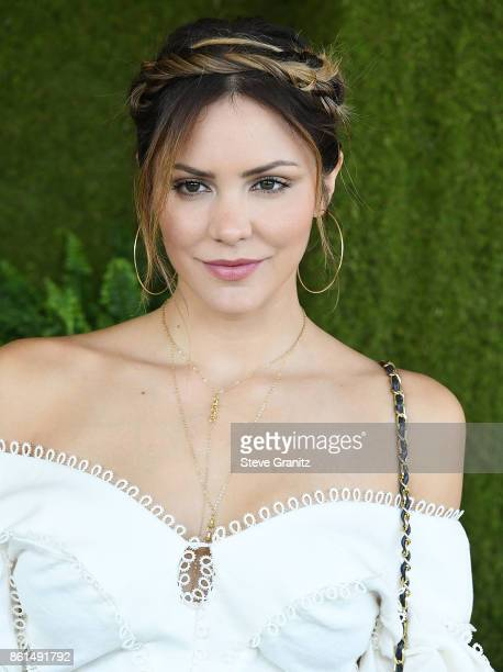 Katharine McPhee arrives at the 8th Annual Veuve Clicquot Polo Classic at Will Rogers State Historic Park on October 14 2017 in Pacific Palisades...