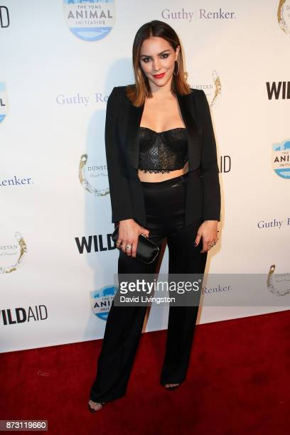 Katharine McPhee arrives at the Evening with WildAid at the Beverly Wilshire Four Seasons Hotel on November 11 2017 in Beverly Hills California