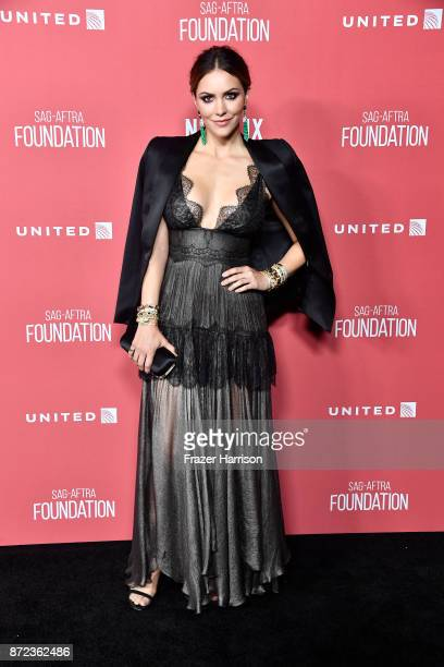 Katharine McPhee attends SAGAFTRA Foundation Patron of the Artists Awards at the Wallis Annenberg Center for the Performing Arts 2017 on November 9...