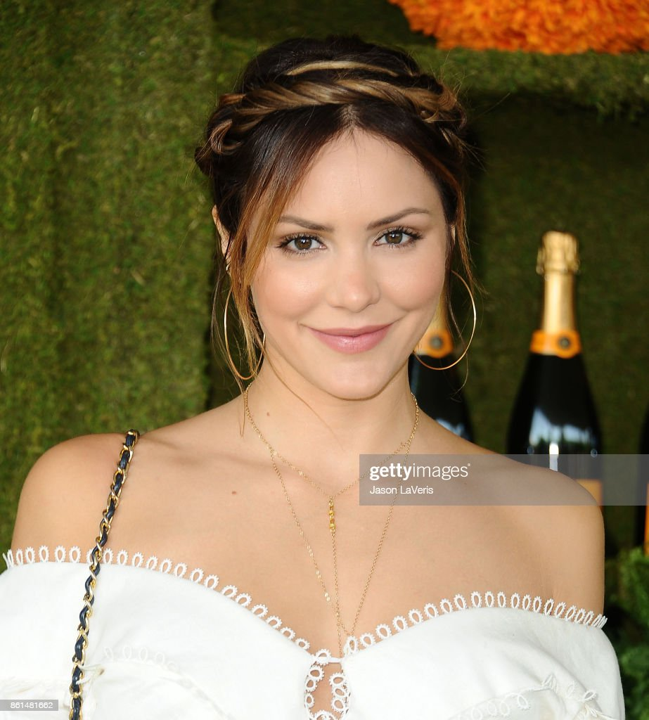 Katharine McPhee attends the 8th annual Veuve Clicquot Polo Classic at Will Rogers State Historic Park on October 14, 2017 in Pacific Palisades, California.