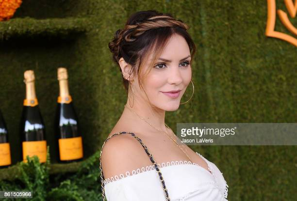 Katharine McPhee attends the 8th annual Veuve Clicquot Polo Classic at Will Rogers State Historic Park on October 14 2017 in Pacific Palisades...