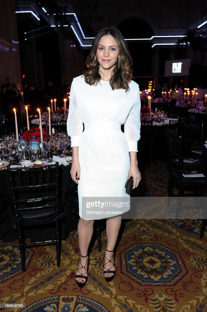 Katharine McPhee attends the amfAR New York Gala to kick off Fall 2013 Fashion Week at Cipriani Wall Street on February 6, 2013 in New York City.