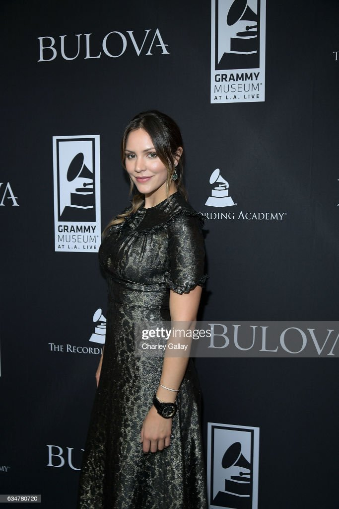 Katharine McPhee attends the Bulova x GRAMMY Brunch in the Clive Davis Theater at The GRAMMY Museum on February 11, 2017 in Los Angeles, California.