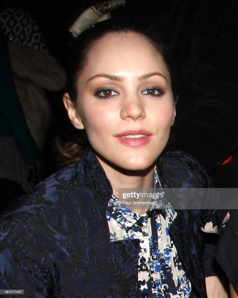 Katharine McPhee attends Zac Posen during Fall 2013 Mercedes-Benz Fashion Week on February 10, 2013 in New York City.