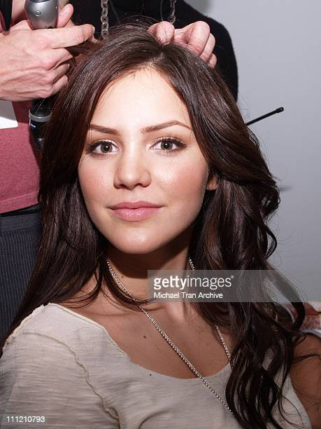 Katharine McPhee backstage at Dina BarEl Spring 2007