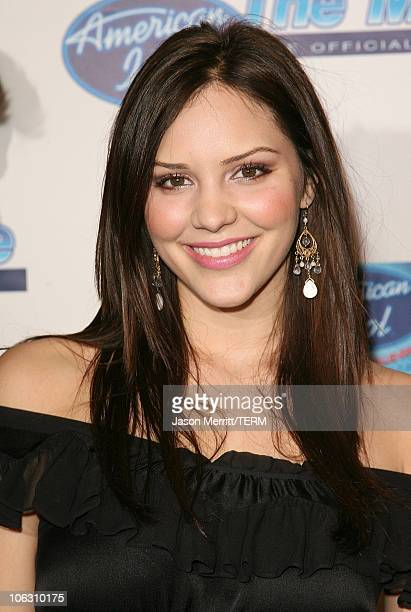 Katharine McPhee during 'American Idol' Season 5 Launch Party at Cinespace in Hollywood California United States