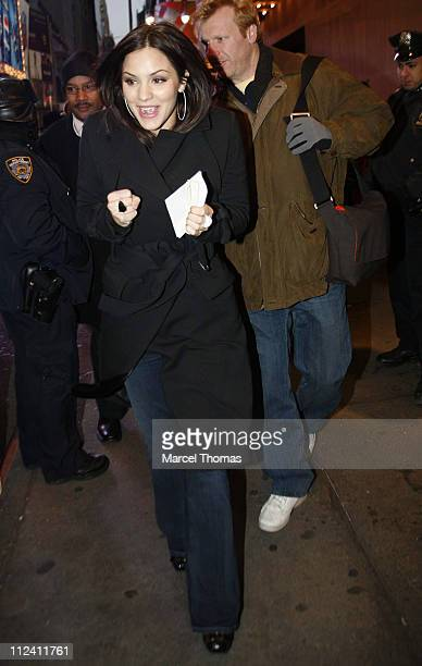 Katharine McPhee during Katharine McPhee and CeeLo Brown Depart 'TRL' February 5 2007 at TRL Studios in New York City New York United States
