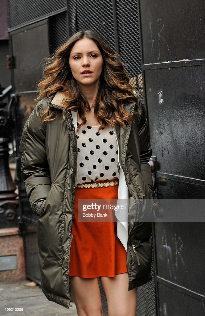 Katharine McPhee filming on location for 'Smash' on January 9, 2013 in New York City.