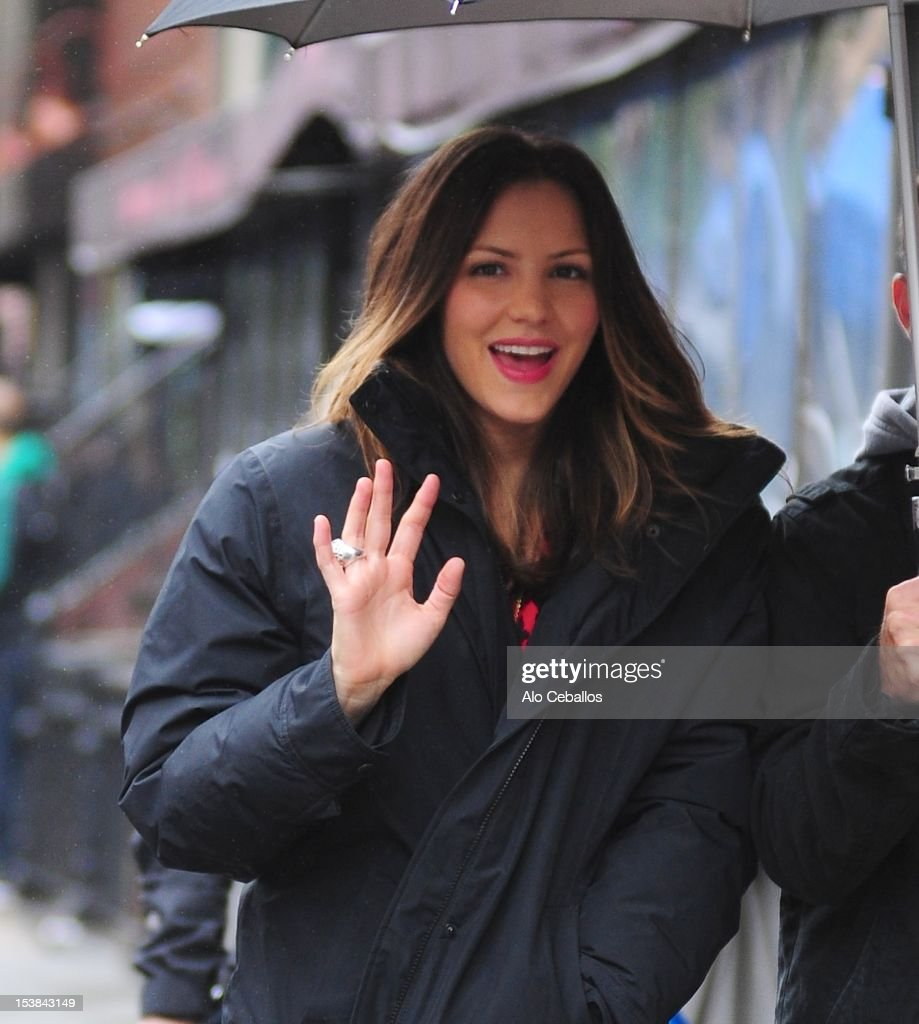 Katharine McPhee is seen on the set of 'Smash' on October 9, 2012 in New York City.