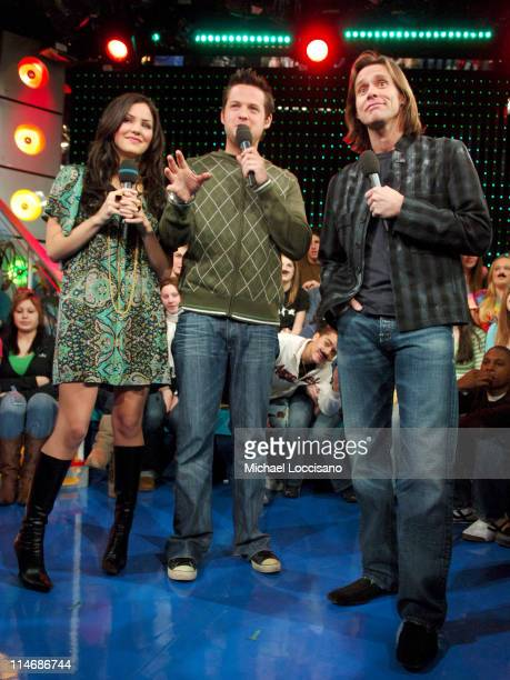 Katharine McPhee MTV VJ Damien Fahey and Jim Carrey
