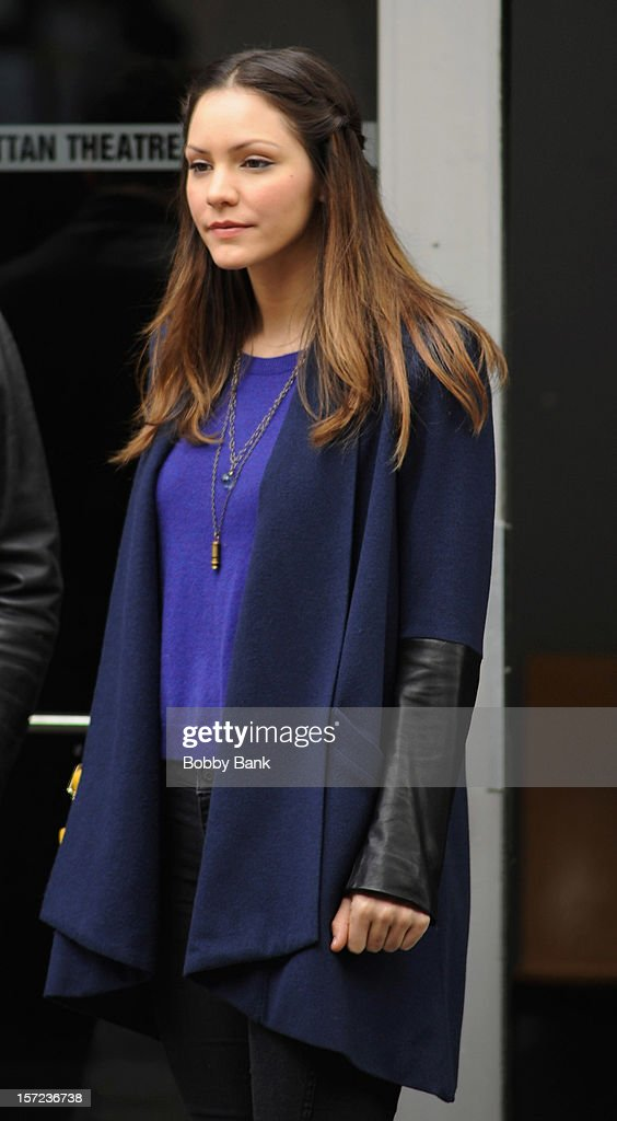 Katharine McPhee on location for tv series 'Smash' on November 30, 2012 in New York City.
