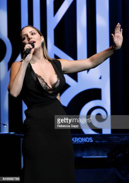 Katharine McPhee performs at 2017 GRAMMY Museum Gala Honoring David Foster at The Novo by Microsoft on September 19 2017 in Los Angeles California