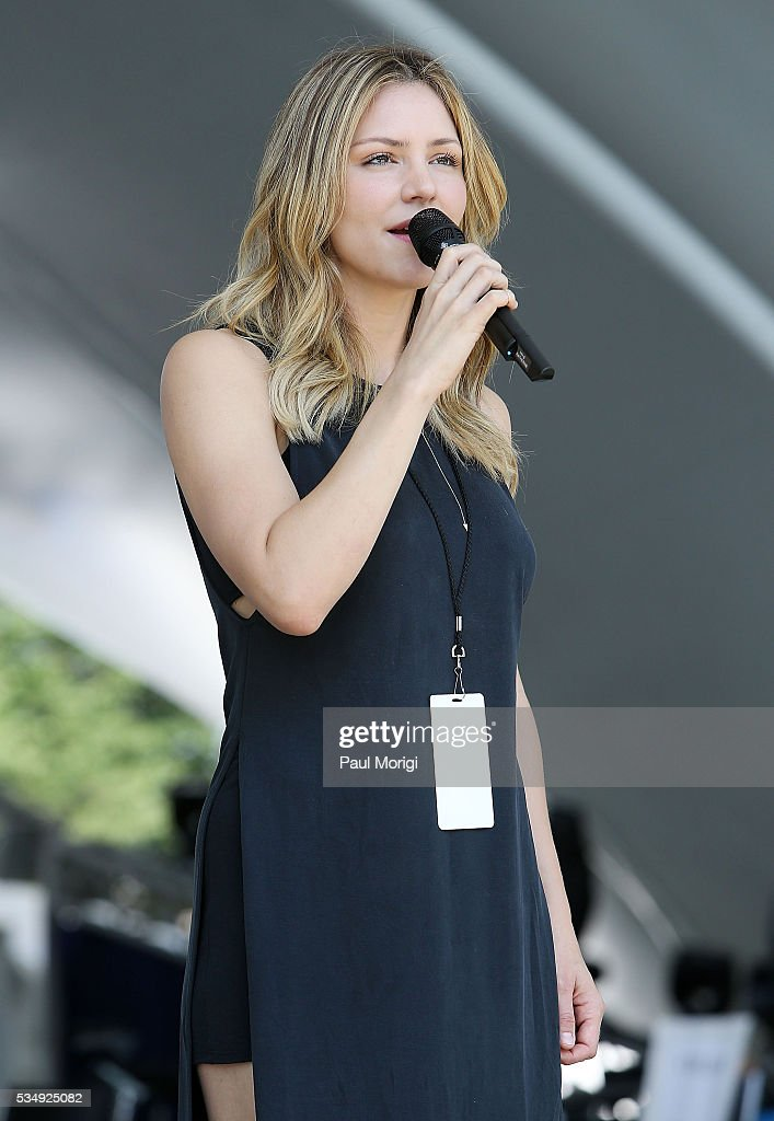 <a gi-track='captionPersonalityLinkClicked' href=/galleries/search?phrase=Katharine+McPhee&family=editorial&specificpeople=581492 ng-click='$event.stopPropagation()'>Katharine McPhee</a> performs during the 27th National Memorial Day Concert Rehearsals on May 28, 2016 in Washington, DC.